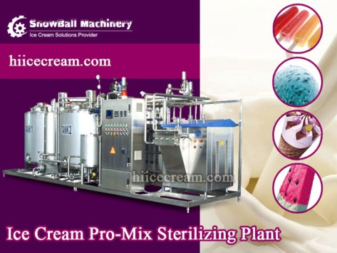 Ice Cream Mixing Plant